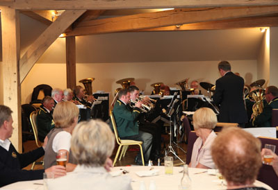 Lydgate band playing at the presentation evening